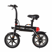 Foldable electric bicycle 14 inch 36V 250W city road two wheel electric bike