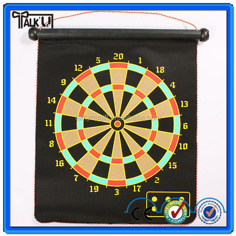 Hot Promotional Magnetic dart board/roll-up magnetic dartboard/safety dartboard game