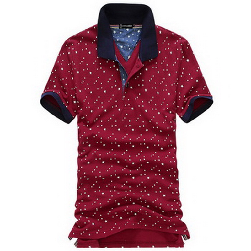 2015 new printing polo shirt short sleeve for men high quality men's slim fit cotton polo shirts hot selling 5colors