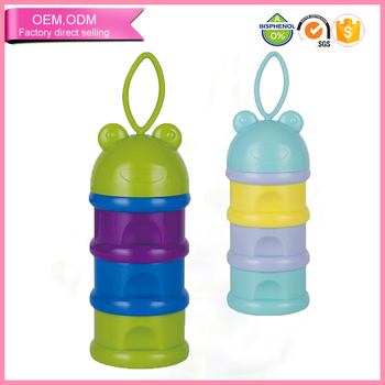 Promotional baby products layered milk powder storage container