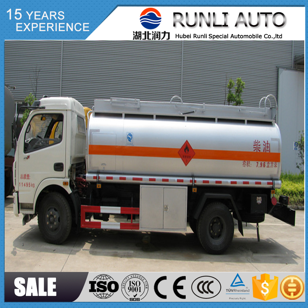 Factory supplied DFAC 8000 liters fuel dispensing trucks fuel dispenser low price for sale