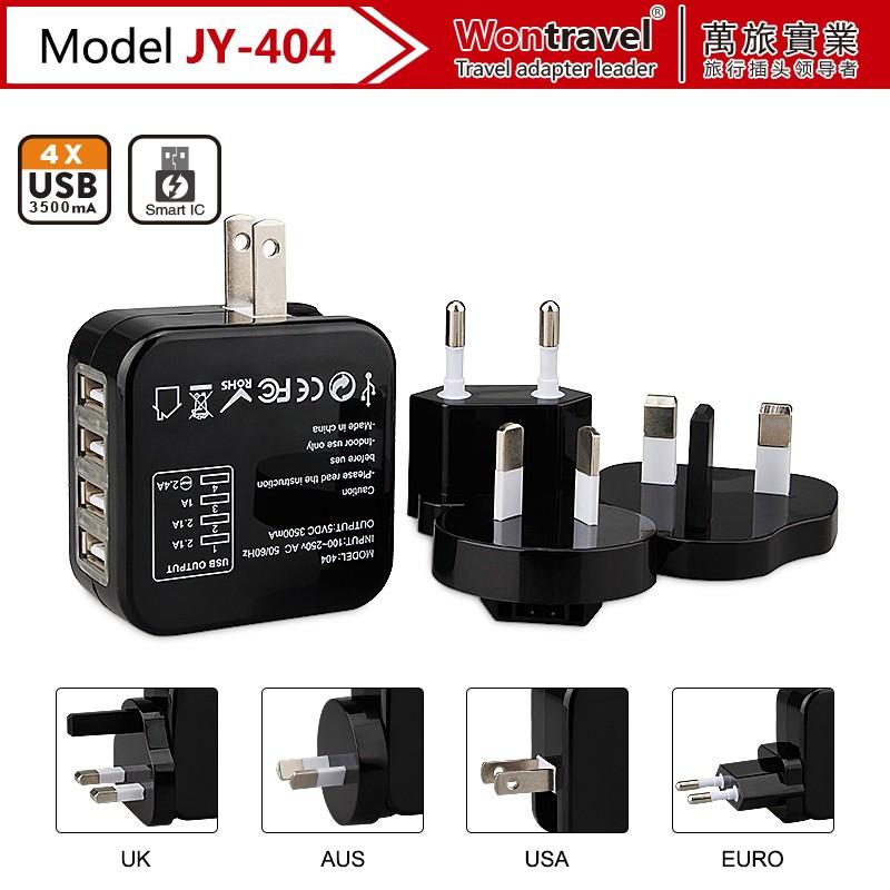 Wontravel Newest Travel Adapter Usa/aus/eu/uk Plug With Safety ...