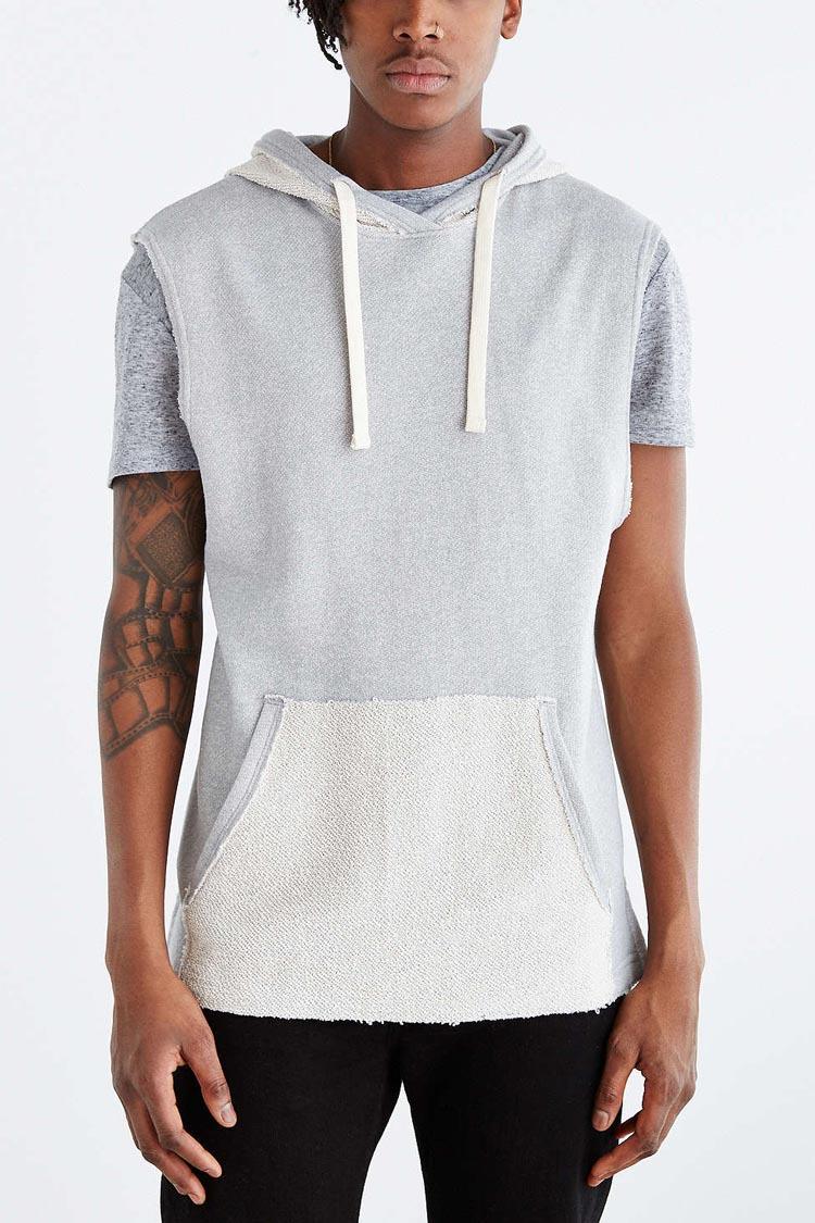 100% Cotton Plain Short Sleeve Sweatshirts For Men - Buy Short ...
