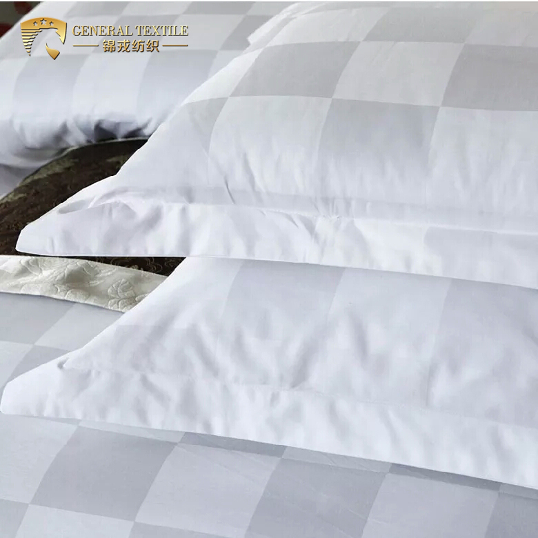 Hotel Bedding Sets White Check Poly Cotton Wholesale Cheap Single Comforter Sets