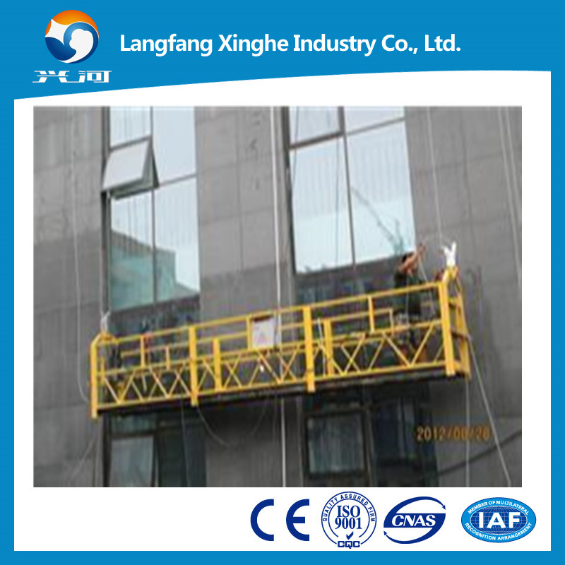 Manufacture of ZLP rope suspended platform/ suspended access equipment