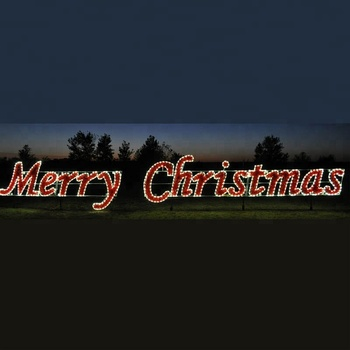 Outdoor Christmas Lights Led With Merry Christmas Letters