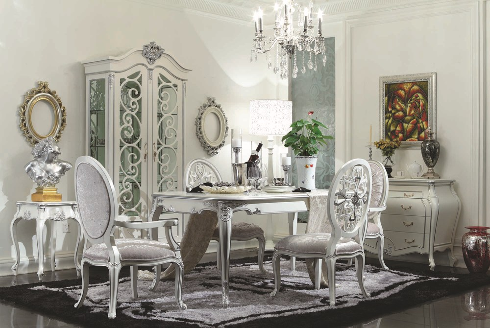 French baroque rococo flower design dining chairs buy - Salle a manger baroque moderne ...