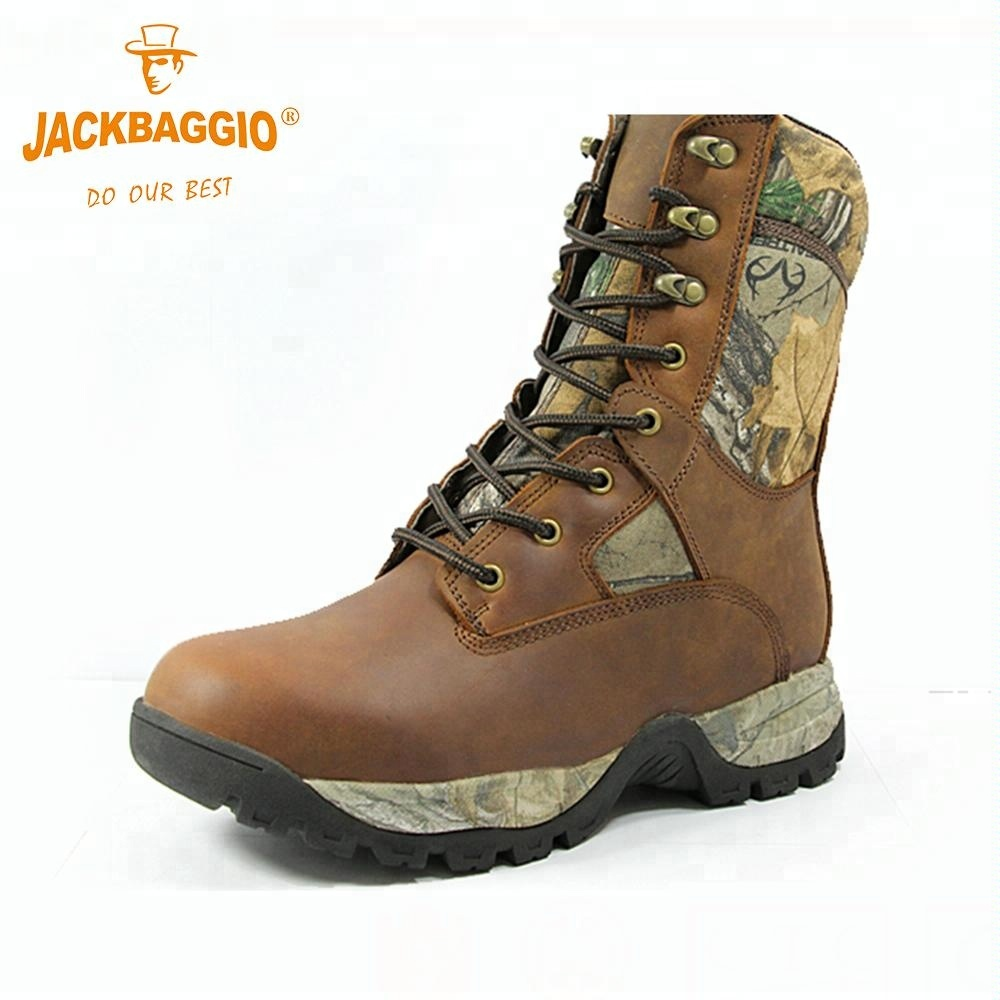 Wood Camouflage Army Hunting Boots