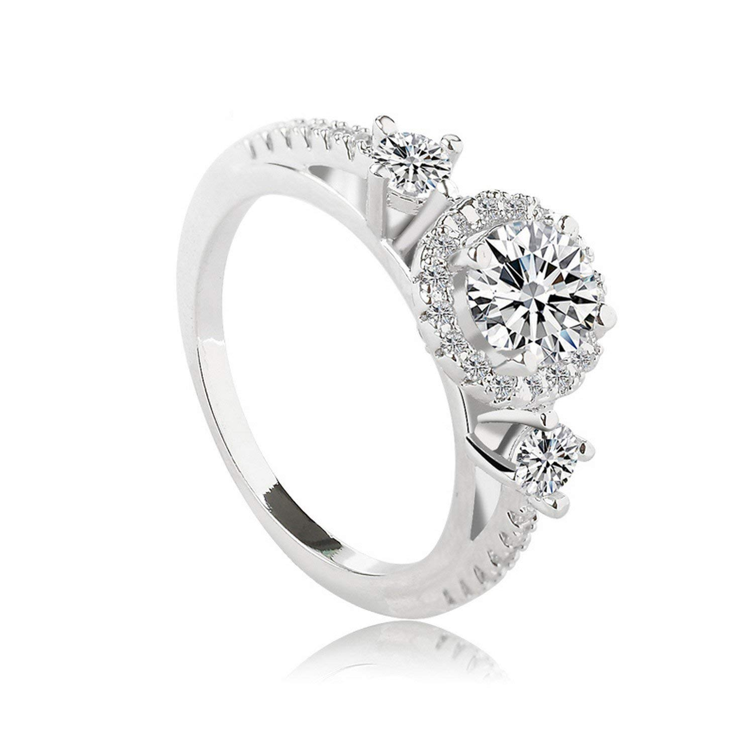 Dudee Ring made with Austrian crystals from sterling silver engagement ring old fashion rings