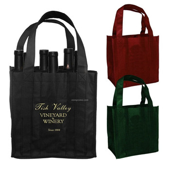 Handmade Paper Bags For Alcohol Drink Pouch With Spout Packaging Wine Bag Tap