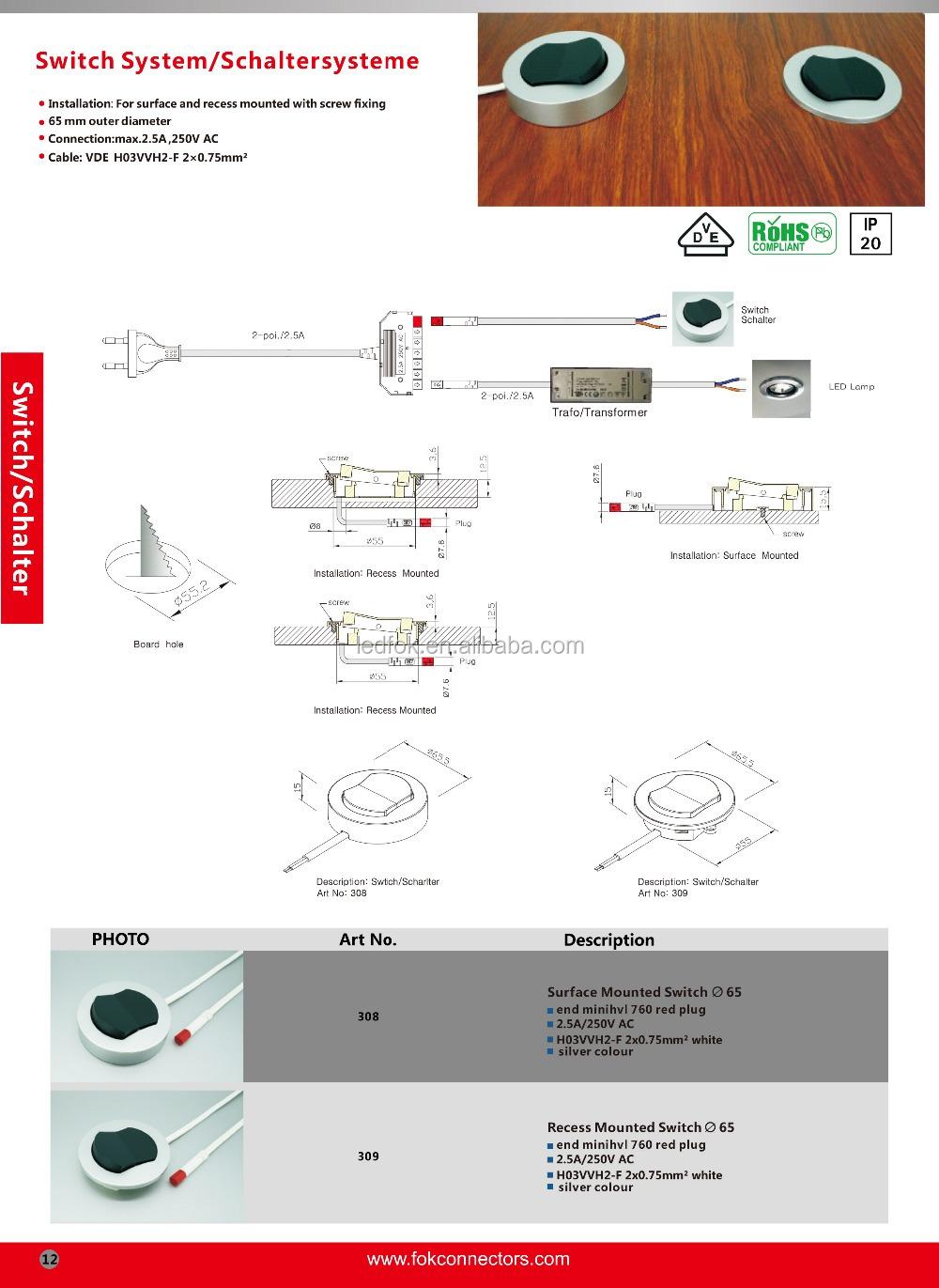 Cocina/armario/gabinete/muebles Interruptor Principal,Muebles,220 V ...