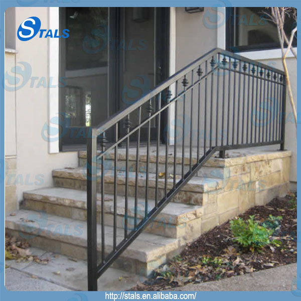 Outdoor Used Wrought Iron Stair Railing Wholesale Price From Foshan Factory