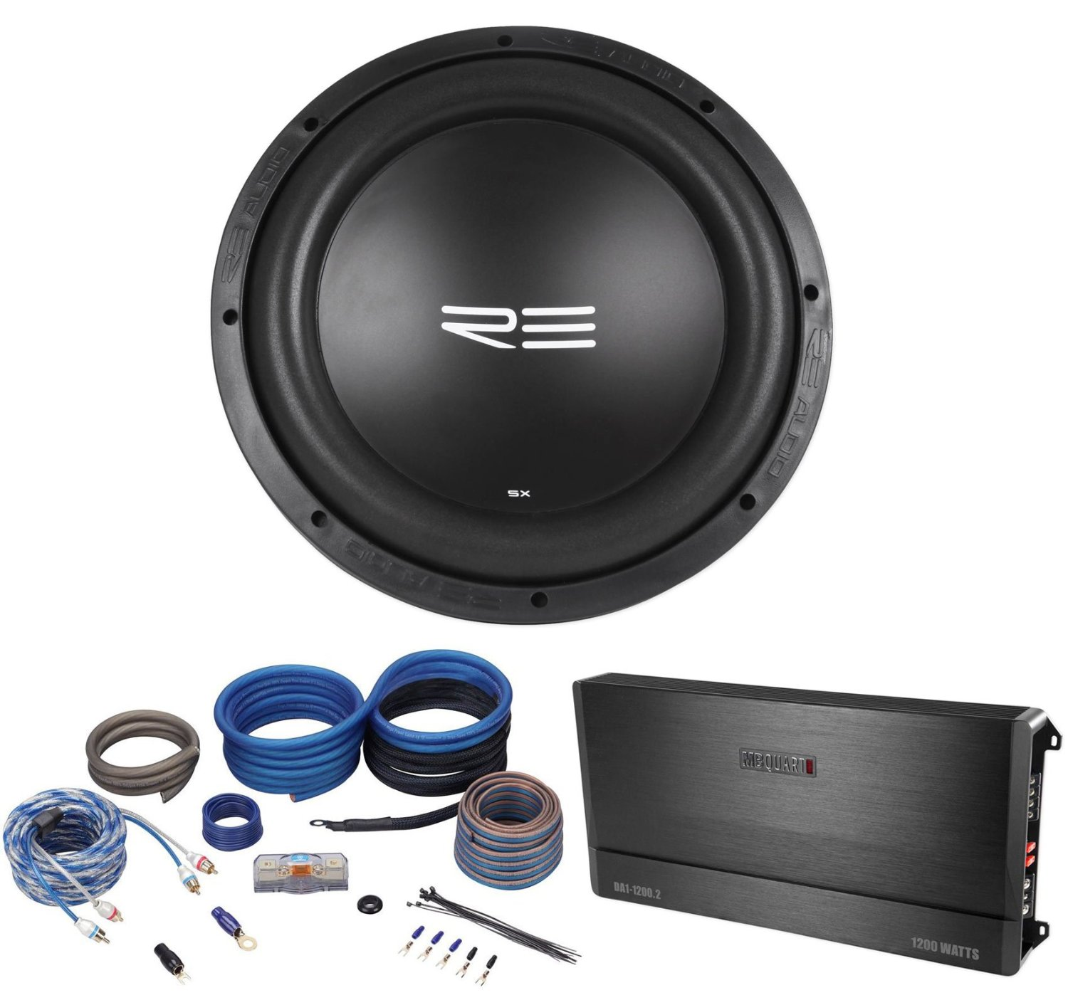 "Get Quotations · Package:RE Audio SXX12D4 V2 12"" 1200W RMS Dual 4-Ohm Car  Sub"