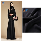 Hot selling 100% polyester formal black wool peach for islamic muslim abaya new women's dress