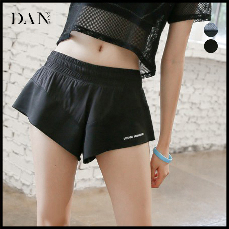 Fake Two Piece Dry Fit Athletic Elastic Waist Sports Short Pants Girls Running Fitness Jogger Shorts