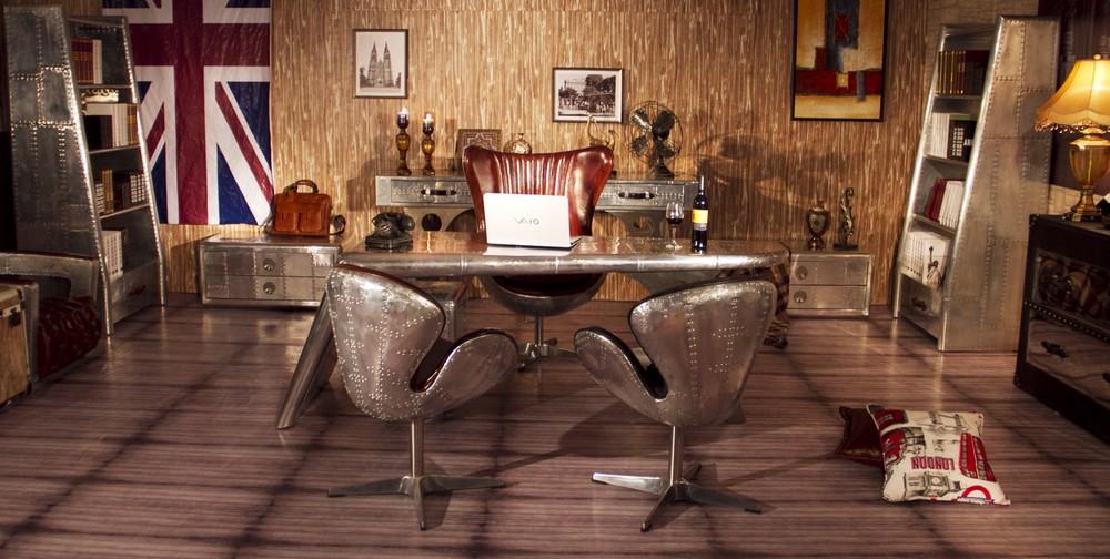 vintage office desk. perfect vintage high quality antique retro style vintage leather office desk inside