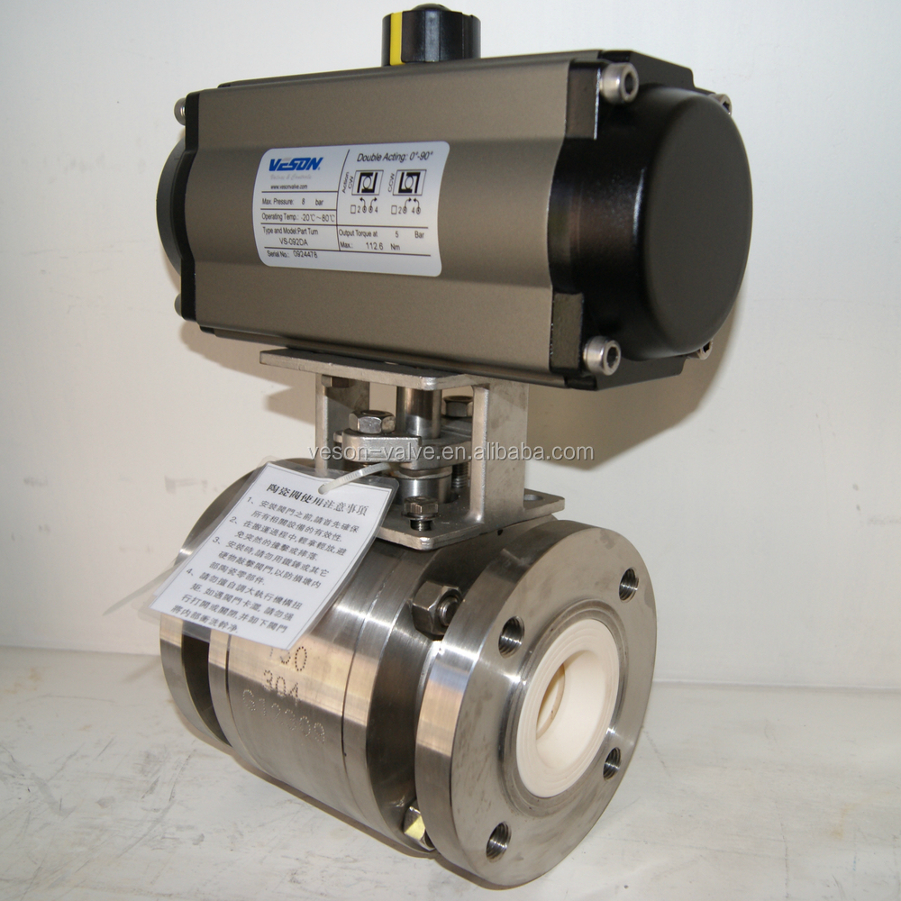 Swagelok Ball Valve With Double Acting Pneumatic Actuator