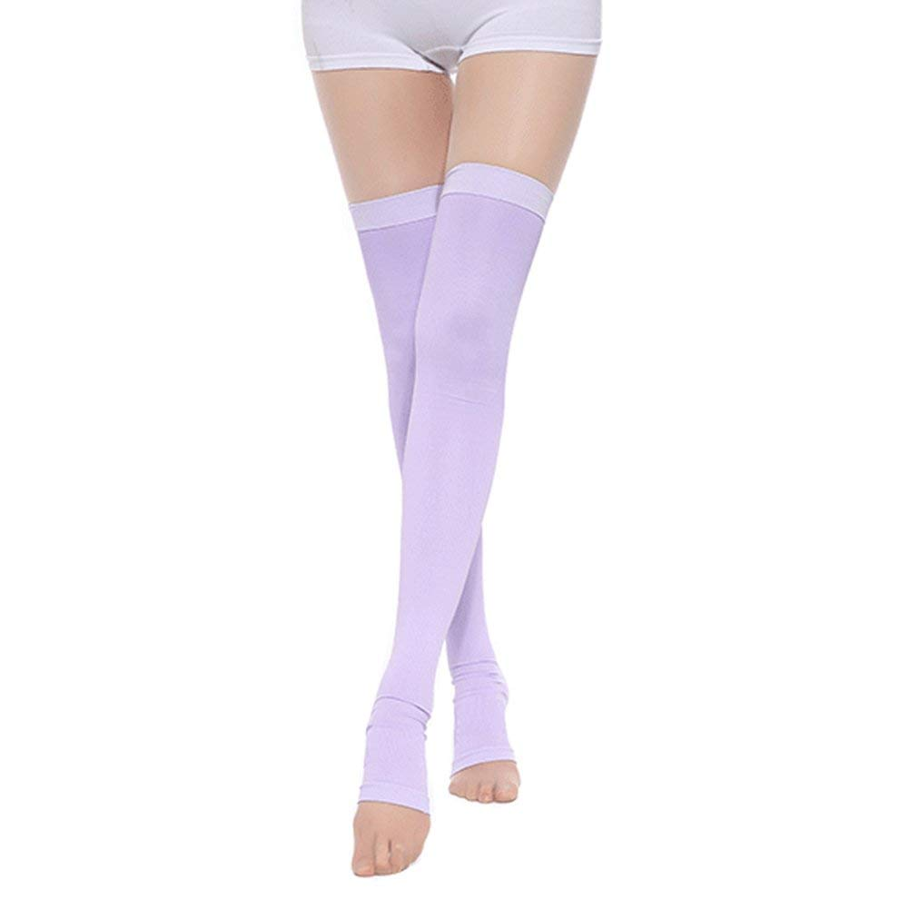 7417a5156fa Get Quotations · MEJORMEN Thigh High Sleeping Compression Stockings for  Womens Girls Compression Socks Overnight Wearing Slimming Purple
