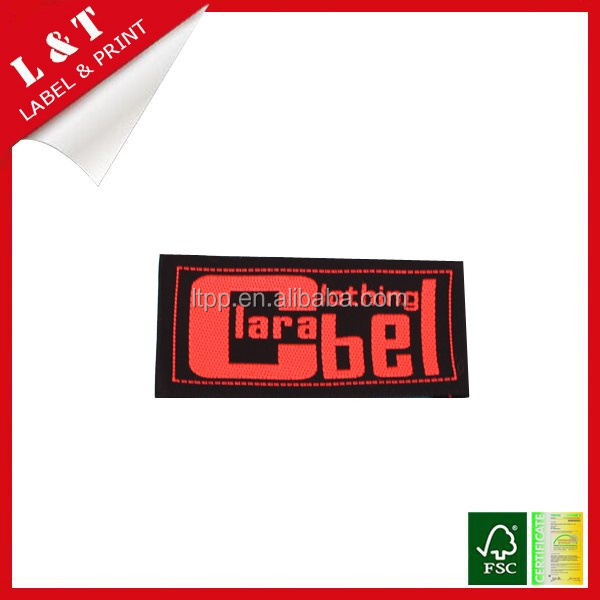 Manufacturers high quality damask woven label for clothing