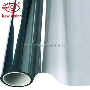 Removable semi-transparent mylar film eco-friendly reusable no glue stained glass window cling film for car