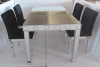 dining room glass mirror dining set