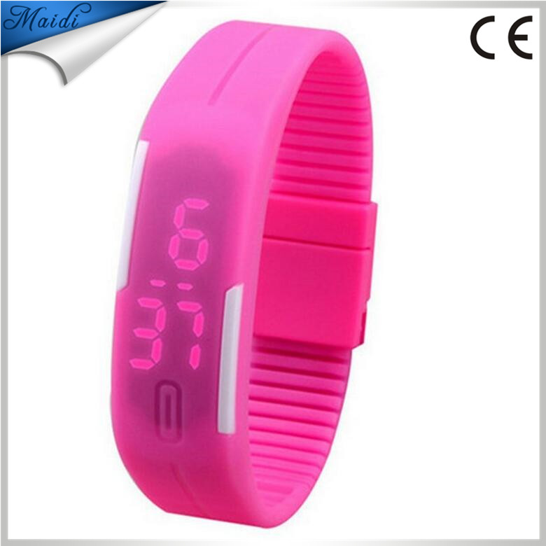 Hot !! 2017 waterproof The keys Touch square dial Digital Jelly Silicone Bracelet LED Sports Wrist Watch fashion Women Men LMW-1