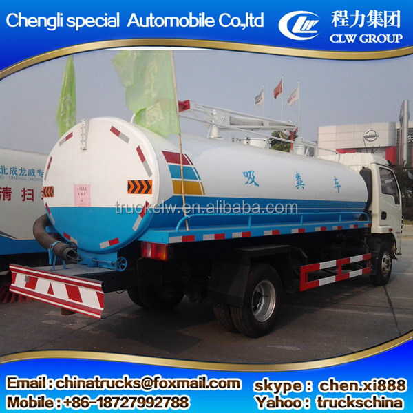 Alibaba china hot sale 12cbm watering tank truck via for dongfeng