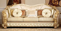 Royal Imperial Italian Style Golden Carving Sofa of Three Seater BF11-11233b