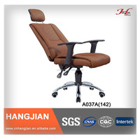 HANGJIAN A037A black leather high back executive reclining office chair