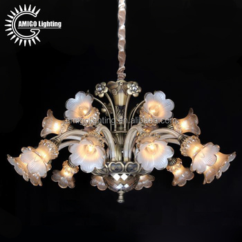 Large american antique brass alloy crystal chandelier flower large american antique brass alloy crystal chandelier flower chandelier a70125 126 mozeypictures Images