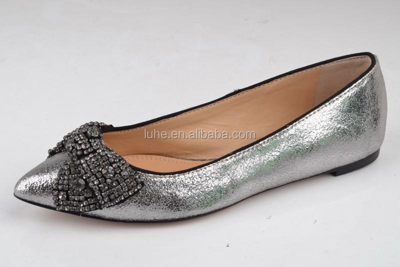Beautiful Pointed Toe Ladies Flat Shoes Ladies Flat Pump Shoes ...