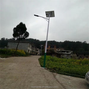 East install in Philippines DC12/24V 45W solar street light with pole use Gel battery use for road and street light