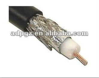 well performed RG11 coaxial cable 75ohm with 1.63mm center conductor PVC jacket for CCTV system(CE RoHS ISO9001)