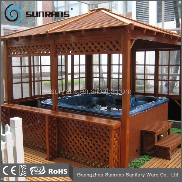 venta superior chino de madera jardn jacuzzi al aire libre gazebo