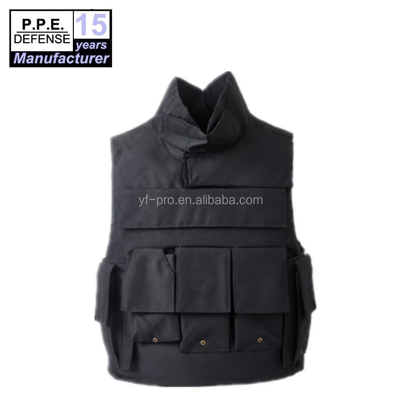 Military lightweight ballistic soft body armor bulletproof vest with collar protection
