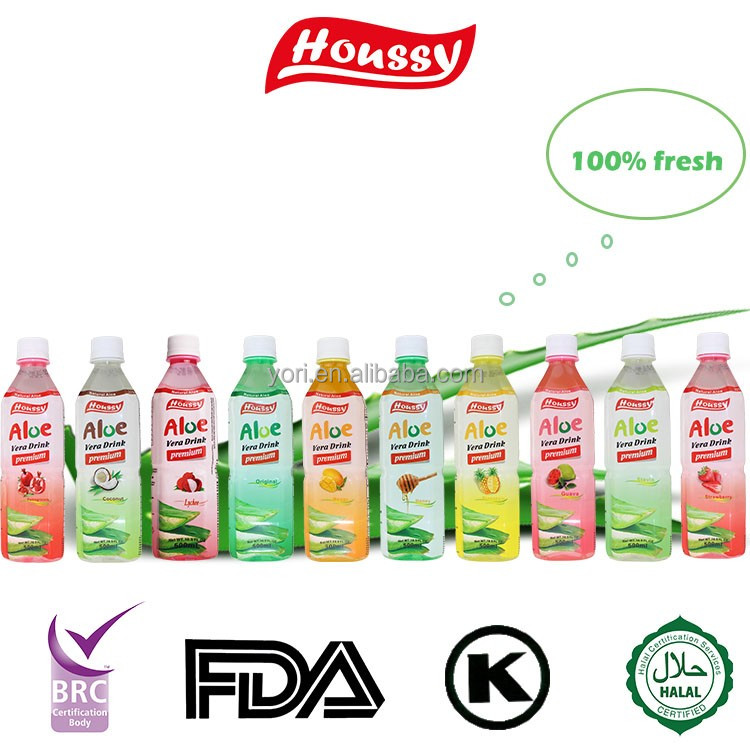 Houssy aloe vera crushed fruit flavor aloe vera drinks