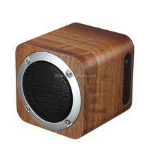 FM Hand-free calls Mini Cheap Wooden Doss Wireless Bluetooth Speaker with TF card