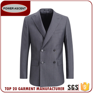 Men'S Double Breasted Stripped Coat Pant Men Suit Formal Business Suits