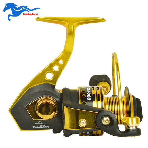 High Quality Full Metal Spinning Fishing Reel For Saltwater Rod 11+1BB 4000 Series Carp Fishing Wheel Spinning Reels 2015