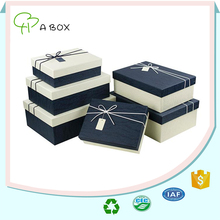 Custom OEM professional big square cardboard wholesale decorative gift nesting boxes