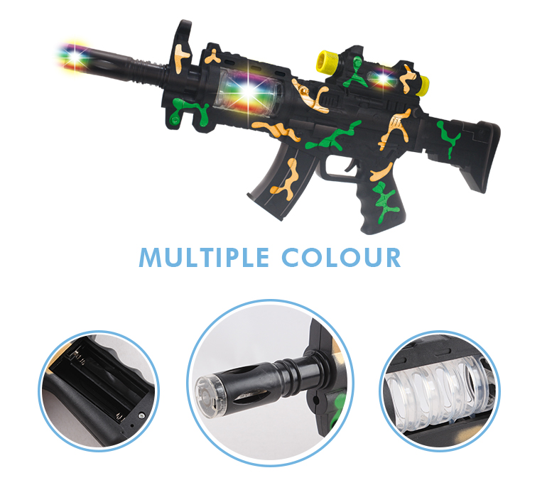The latest flashing plastic music kids battery operated sniper super toy gun