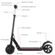 folding electric scooter Stand up adult 2 wheel self balancing electric vehicle on sale