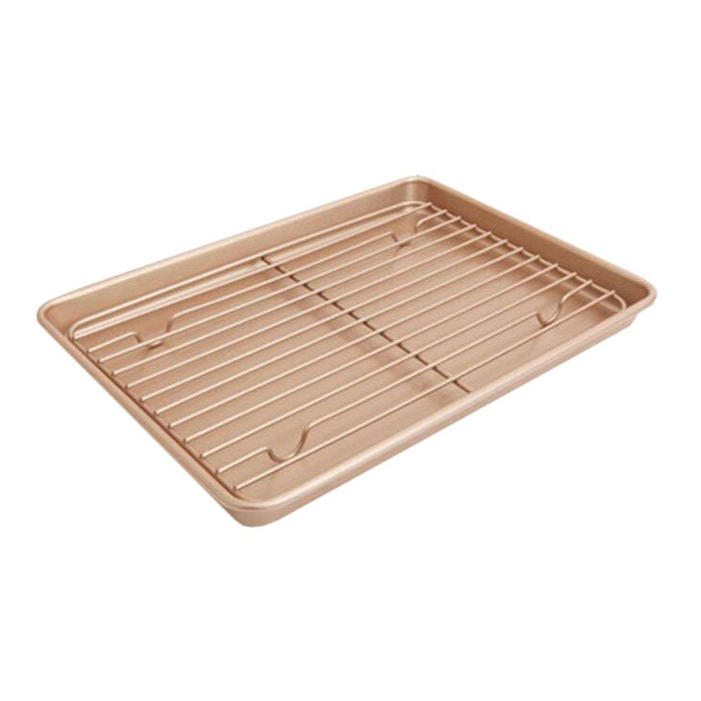 Xinvision 13-inch Nonstick Cake Baking Tray Thanksgiving Day Turkey Roasting Pan (High 2.5CM)
