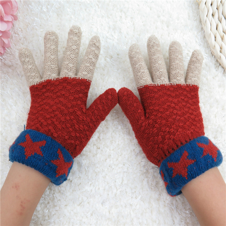 Kids Boys Flip Top Gloves Toddler Girls Rainbow Half Finger Mittens