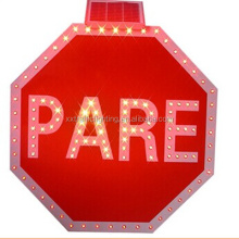 led pare traffic sign/traffic stop signals/solar road safety signal board