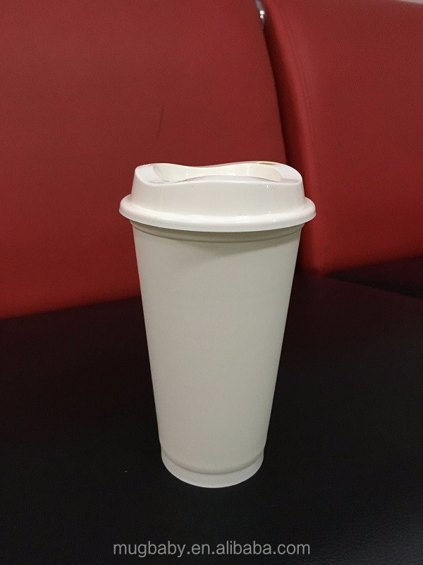 Disposable 16oz Bpa Free Reusable Plastic Coffee Cup With