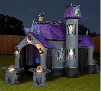 hot halloween inflatable haunted house yard decorationhalloween castle - Lowes Halloween Decorations