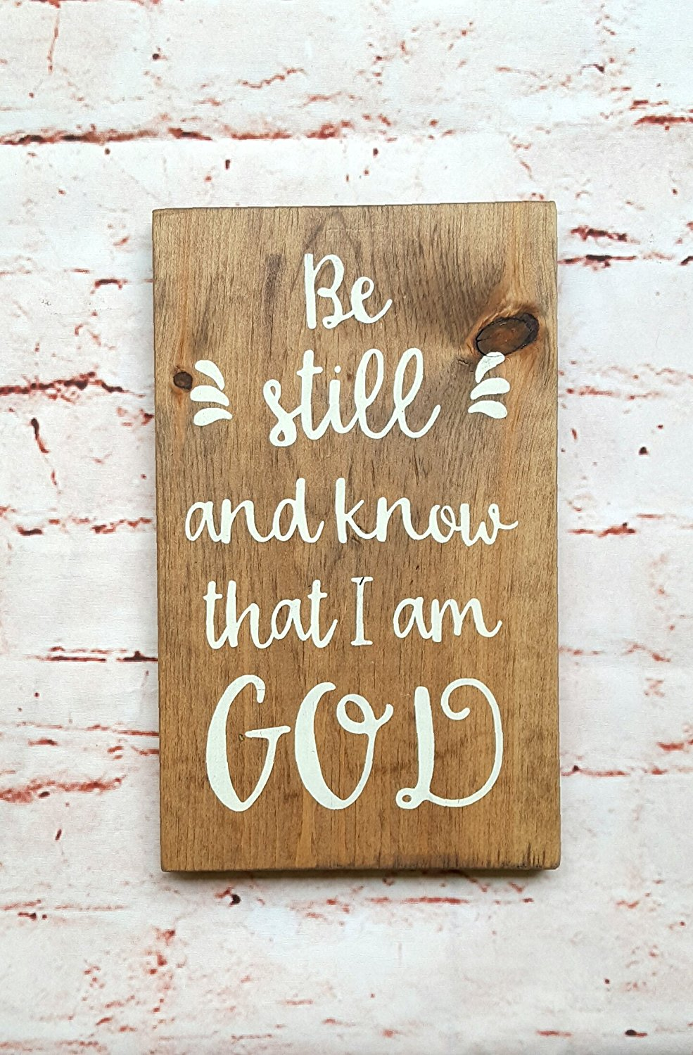 Be still and know, Wood wall art, Scripture wall art wood, Scripture wall decor, Gift for her, Wooden signs for home, Wood signs with quotes for home, Nursery wall decor