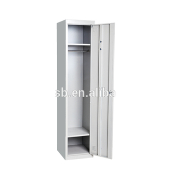 1 Door Army Steel Hanging Clothes Wardrobe Cabinet Cheap