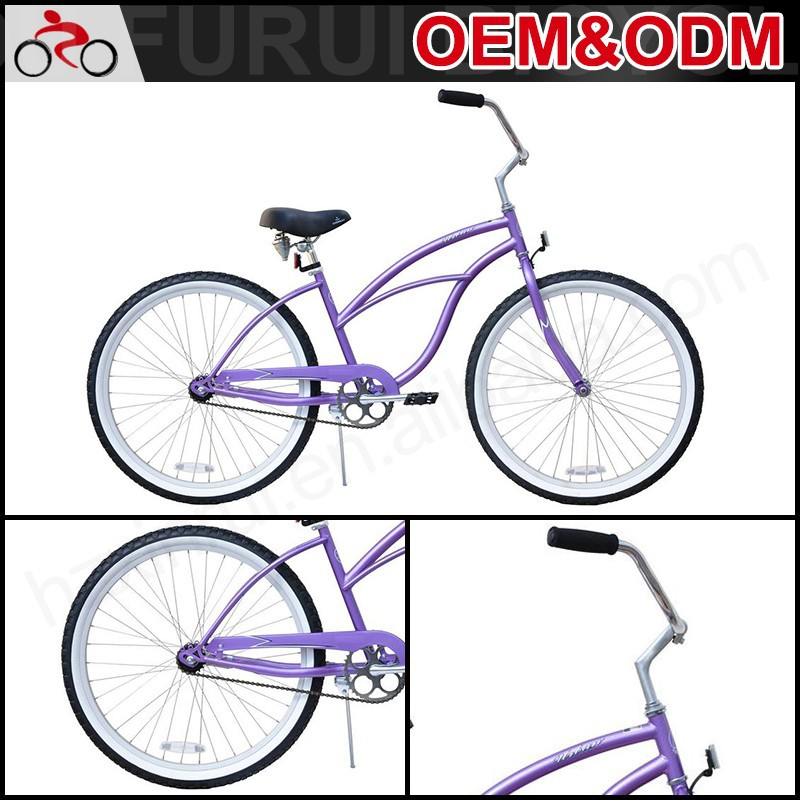 "2015 Promotion Gifts Cheap Custom Hi-Ten Frame 26"" Beach Cruiser Bicycle"